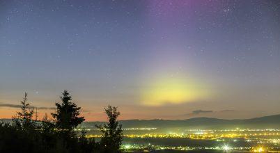 A hónap asztrofotója: Sarki fény Székelyföldön