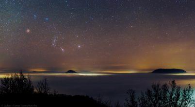 Orion a ködtakaró felett
