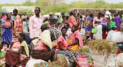 Ugandában egy piacon