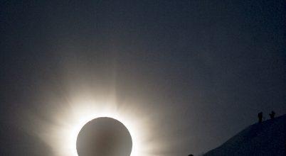 A síelők napfogyatkozáskor