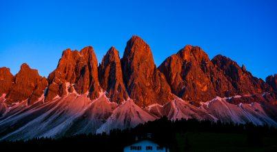 A nap képe: Dolomitok vörösbe öltözve