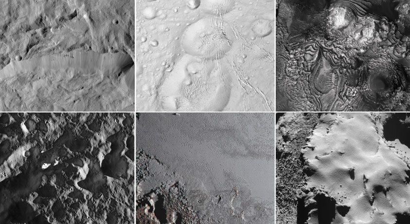 Fotók a Naprendszer felszíni változatosságáról