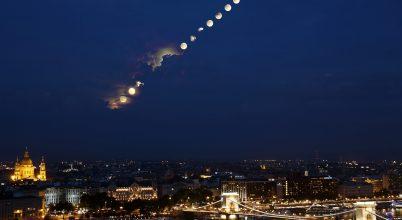 A hónap asztrofotója: A fogyatkozó Hold kelése