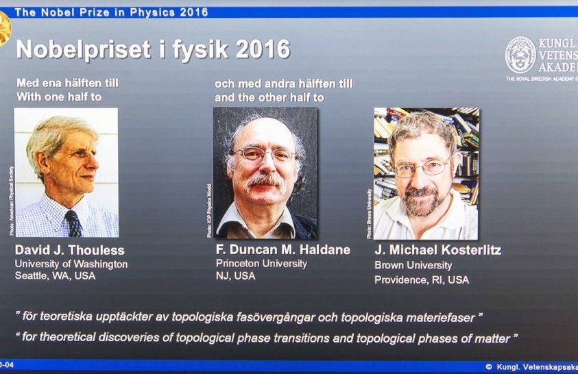 Fizikai Nobel-díj – 2016