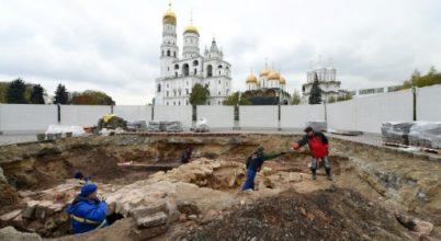 A középkori leletek a Kreml alól