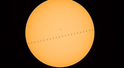 A nap képe: ISS tranzit