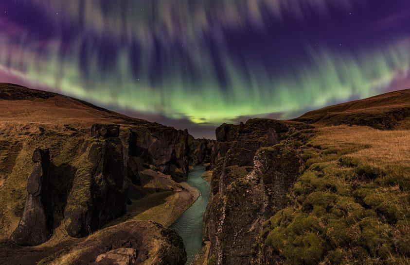 A hónap asztrofotója: Sarki fény a látóhatáron