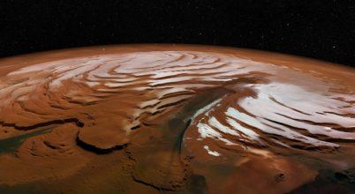 A Mars északi jégsapkájáról készült felvételek