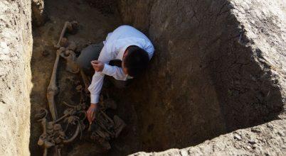 Germán harcos sírja egy szarmata temetőben