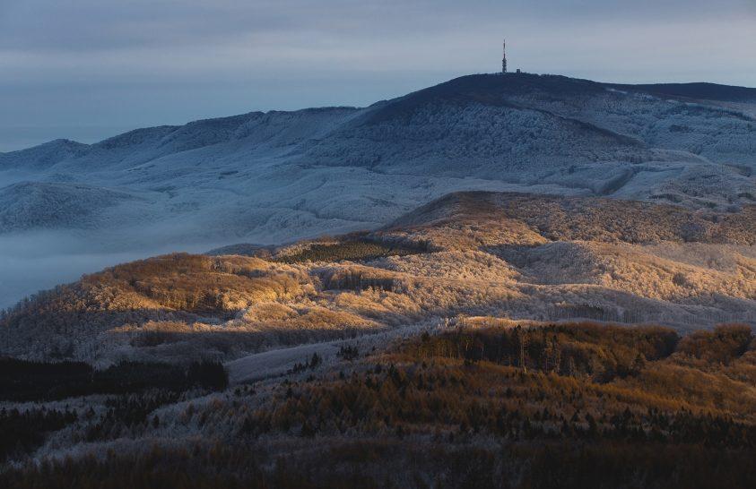 A nap képe: Egy téli késő délután a Mátrában