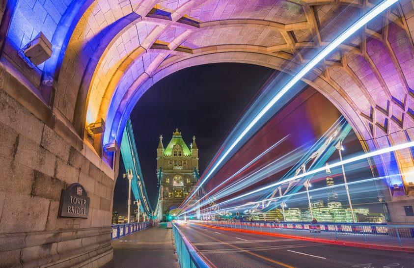 A nap képe: A Tower Bridge éjszakai fényei
