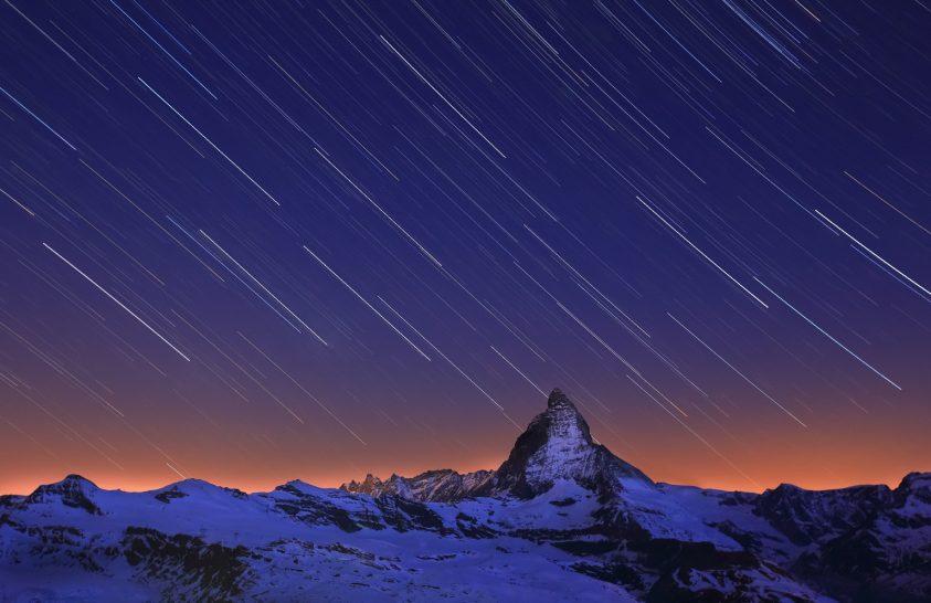 2017. május asztrofotója: A Matterhorn csillagíves arca