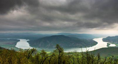 A nap képe: Szürke felhők fedik a Dunakanyart