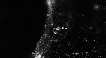 Az űrből is látszódott a portugáliai tűzvész
