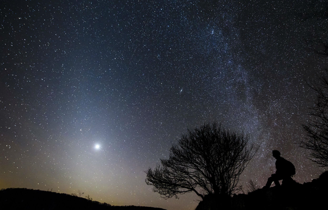 Fényszennyezéstől mentes csillagos égbolt a Bükk fölött