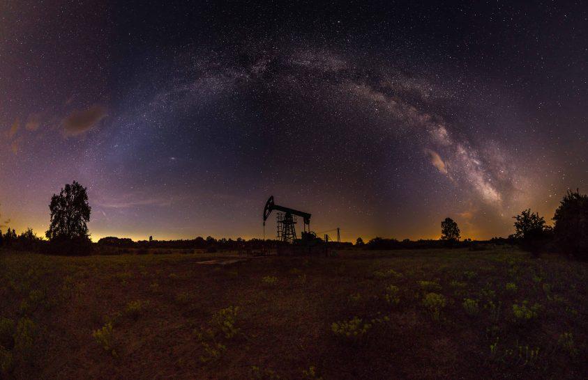 A nap képe: Galaxisunk egy olajkút felett