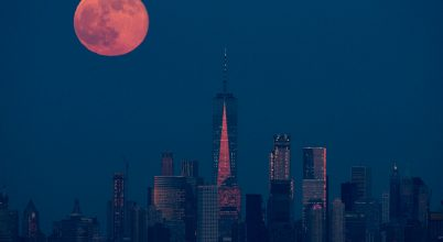 A nap képe: Manhattani telihold