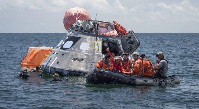 Tengerbe dobták az Orion űrhajót