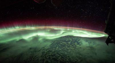 A sarki fény az űrből is káprázatos