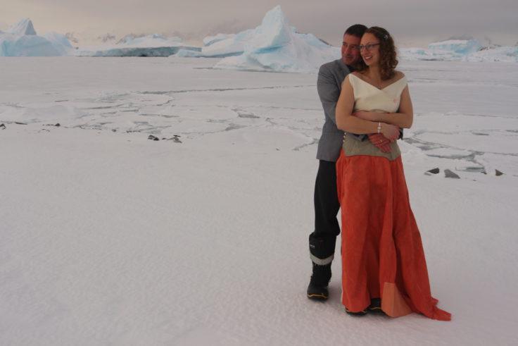 Megvolt az első esküvő a brit Antarktiszon