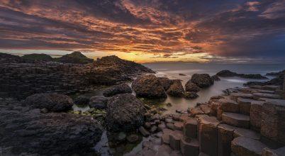 A nap képe: Naplemente az Óriások útján