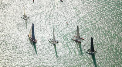 A nap képe: Versenyző hajók a Balatonon