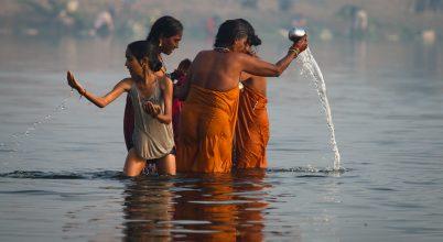 A nap képe: Fürdés a Jamuna folyóban