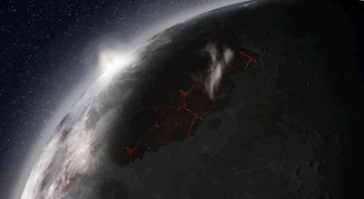 Atmoszféra alakult ki az ősi Holdon
