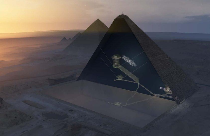 Rejtélyes kamrát találtak a gízai nagy piramis szívében