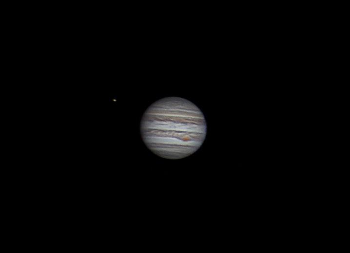 Jupiter és a Ganymedes holdja