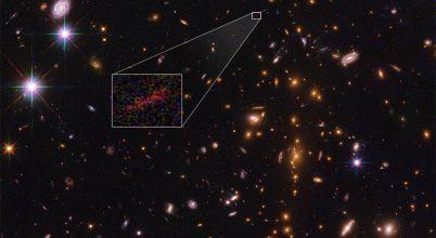 Egy galaxis 13 milliárd évvel ezelőtti képe