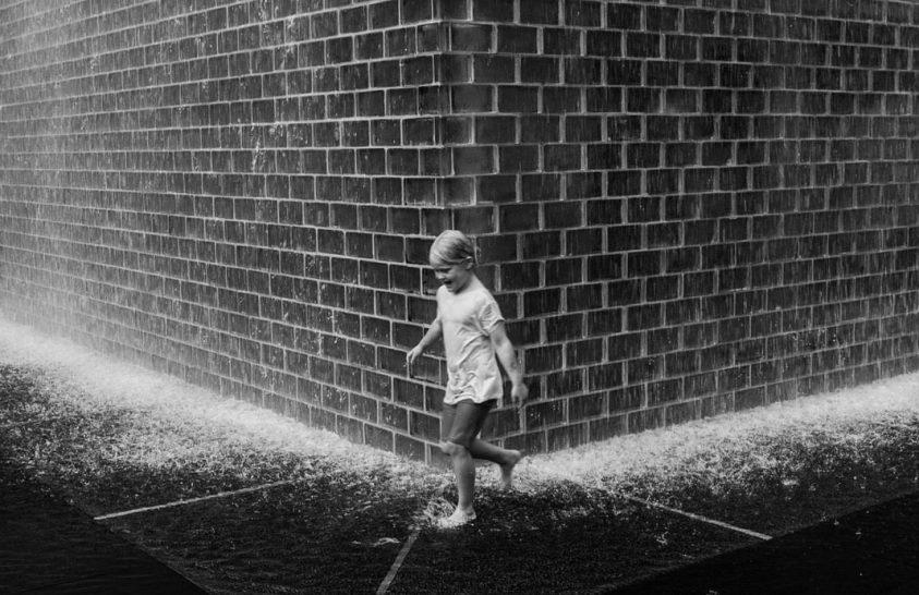 A nap képe: Játék a chicagói Crown Fountain előtt