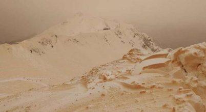 Sárga hó hullott Kelet-Európa-szerte
