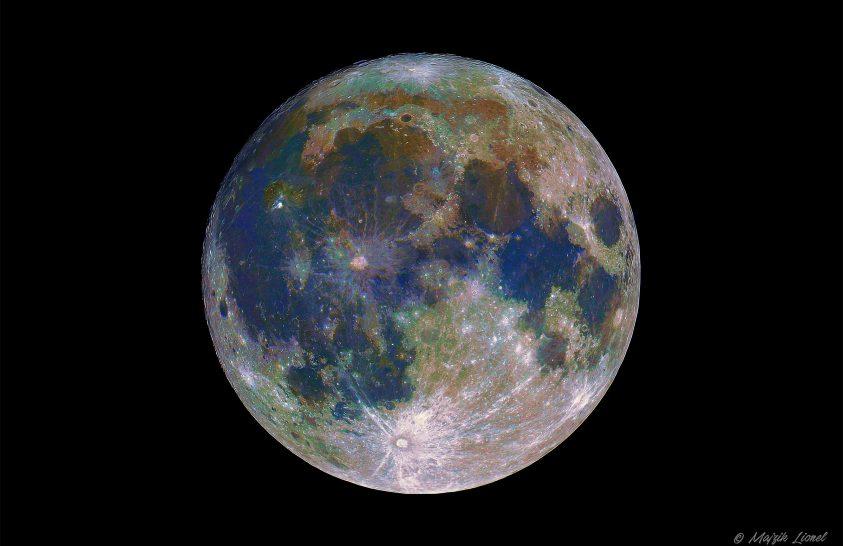 2018. május asztrofotója: A Hold színesben
