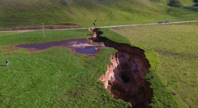 Szunnyadó vulkán bukkant elő egy új-zélandi farmon