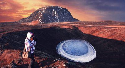 A nap képe: Izlandi vulkanikus krátertó