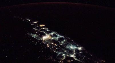 Jáva fényei az űrből