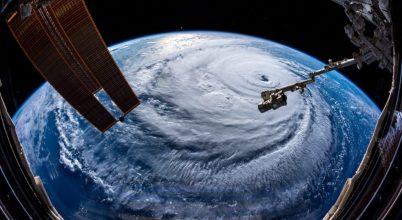 A Florence hurrikán az űrből