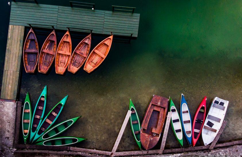 A nap képe: Kikötött csónakok