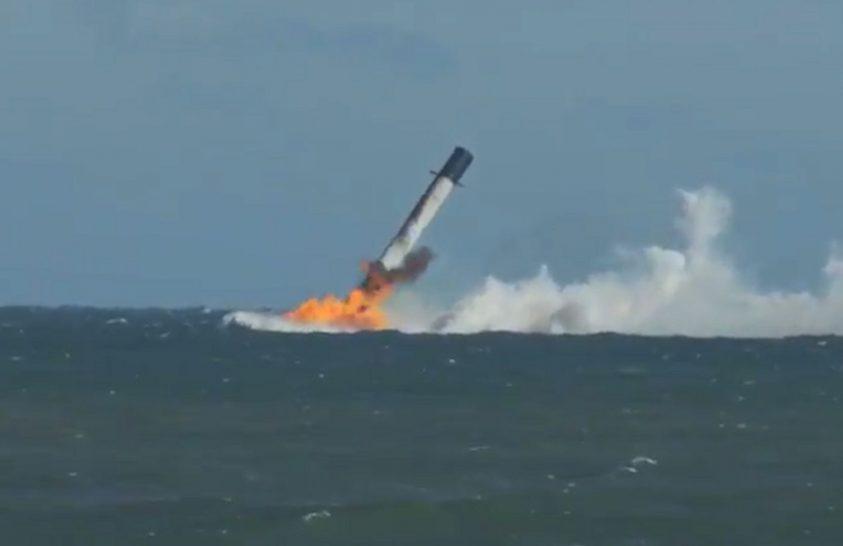 Tengerbe pottyant a SpaceX rakétája
