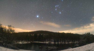 A nap képe: Ragyogás a téli éjszakában