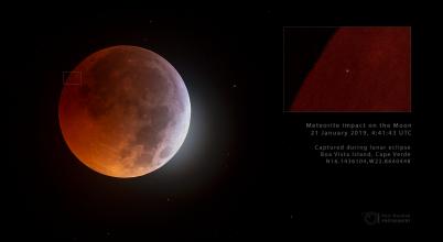 A Holdba csapódott egy meteorit a fogyatkozás idején