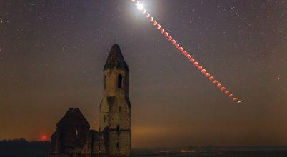 2019. január asztrofotója: Holdfogyatkozás a Pusztatorony árnyékában