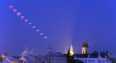 Veszprémben látványosan fogyatkozott a Hold