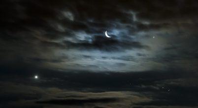 Vénusz, Hold és Jupiter hármasa