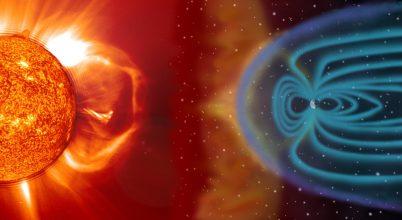 A napszél dobol a mágneses mezőnkön
