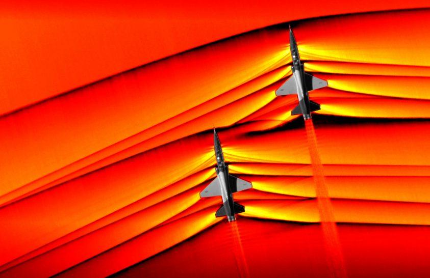 Levegőből fotózták a szuperszonikus lökéshullámokat