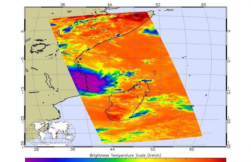 Megörökítette a NASA a Kenneth ciklont Mozambik felett