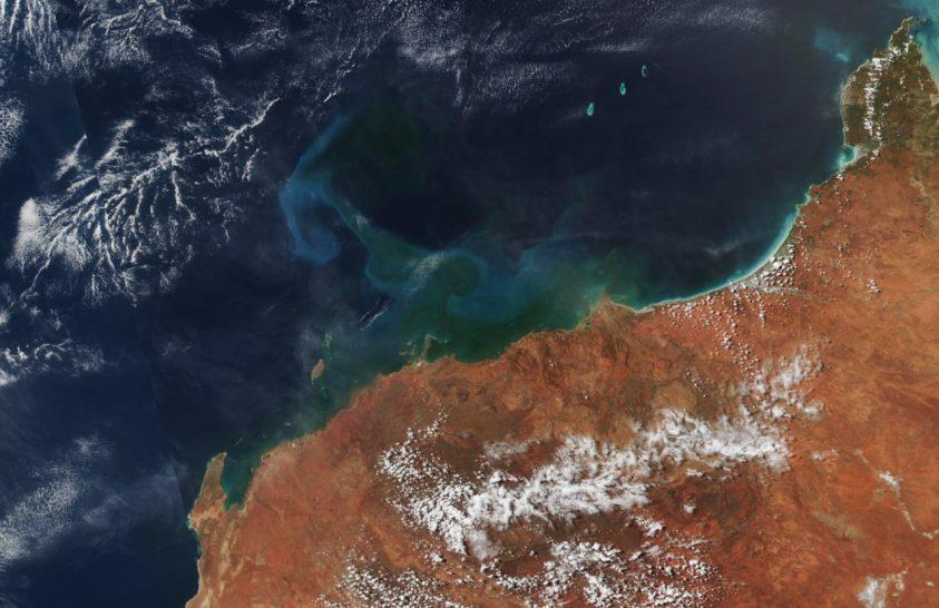 Algavirágzás kezdődött a ciklont követően Ausztrália közelében