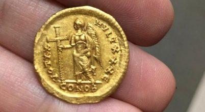 1600 éves ritka aranyérmét találtak Izraelben